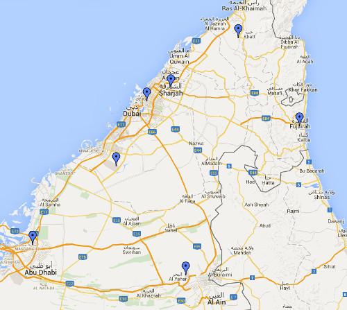 aéroports des émirats arabes unis