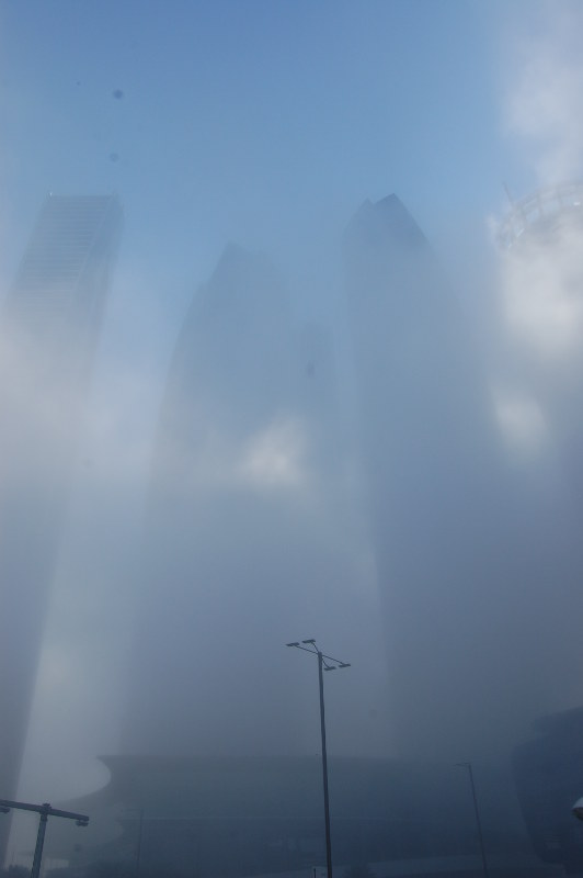 Abu Dhabi dans la brume